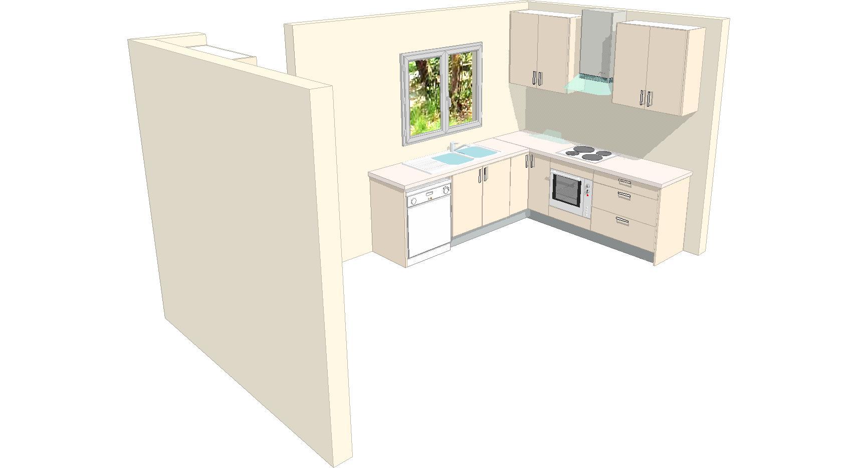 Kitchen U1 3d 1