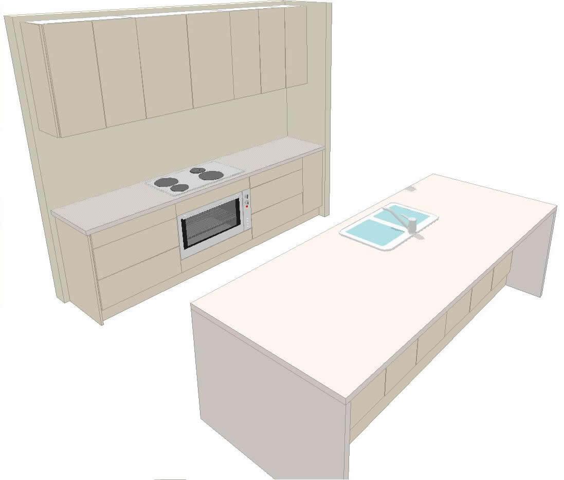 U1 Kitchen 3d 1