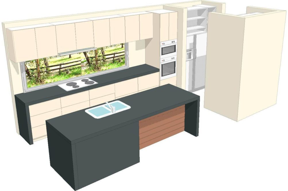 U1 Kitchen 3d 3