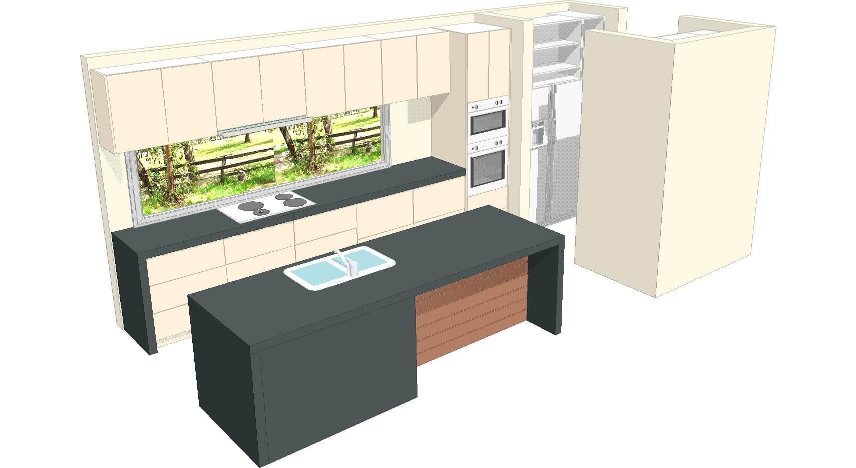 U1 Kitchen 3d 3