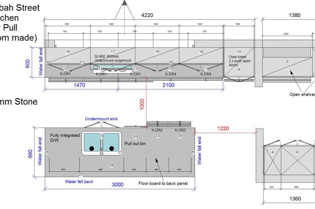 U1 Kitchen Floor Plan Stone