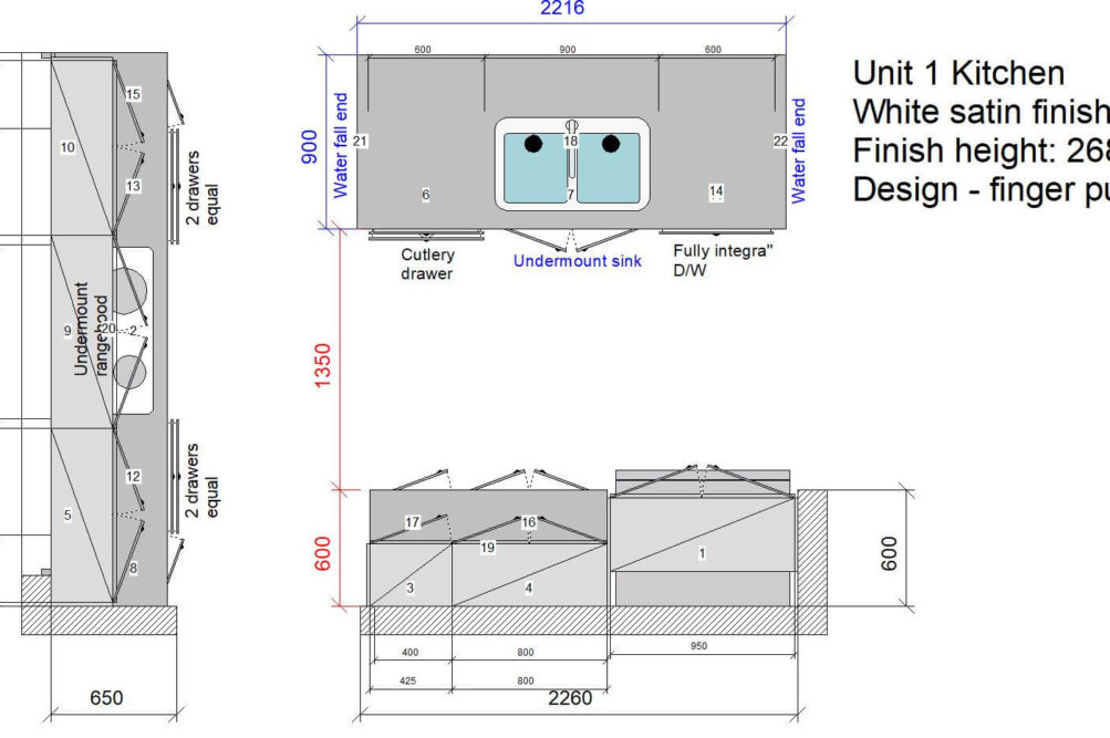 U1 Kitchen Floor Plan Stone