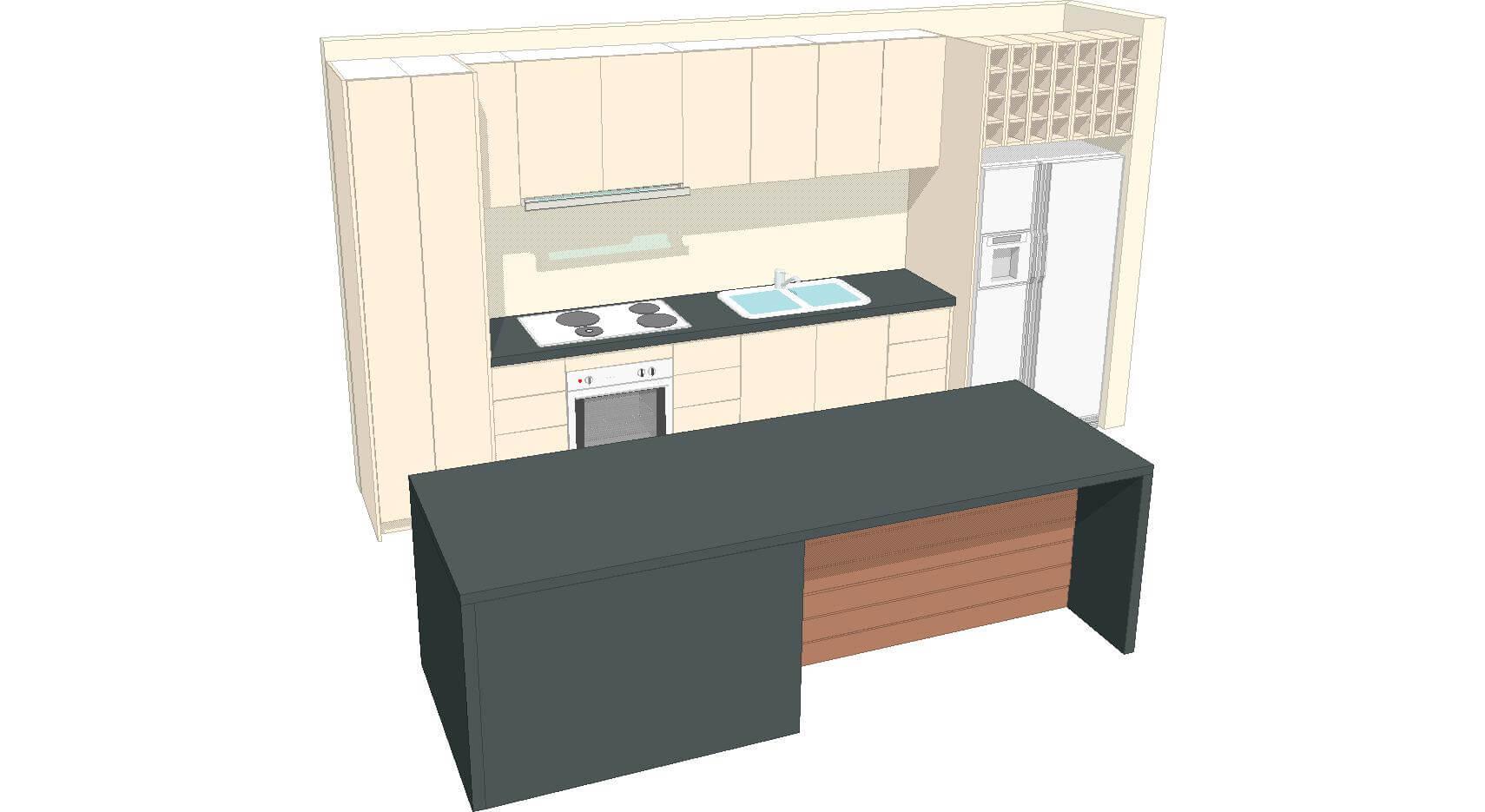 U2 Kitchen 3d 3