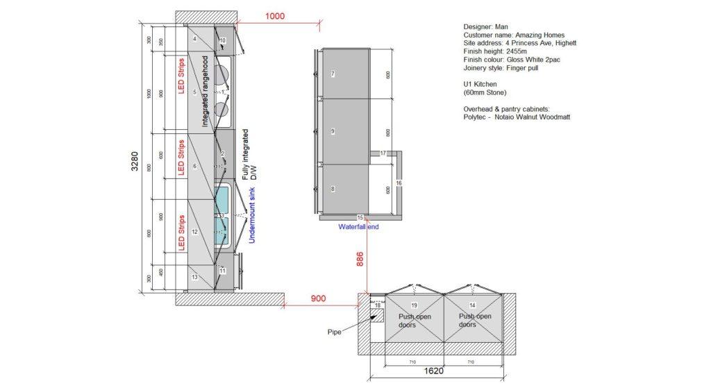 U1 Kitchen Floor Plan
