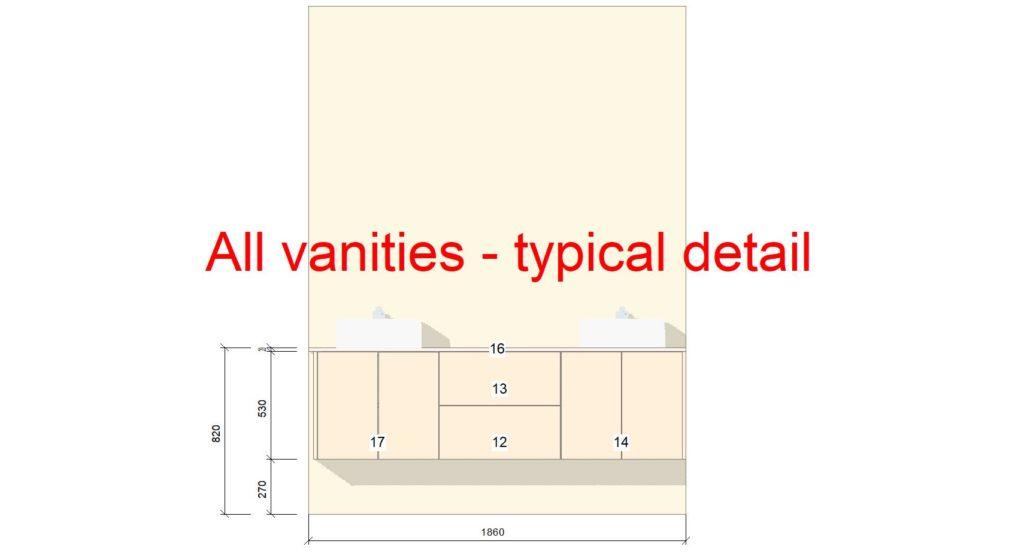 U1 & U2 Vanity Typical Drawing