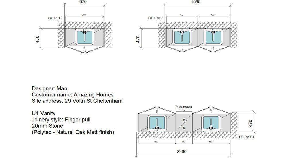 U1 Vanity Floor Plan