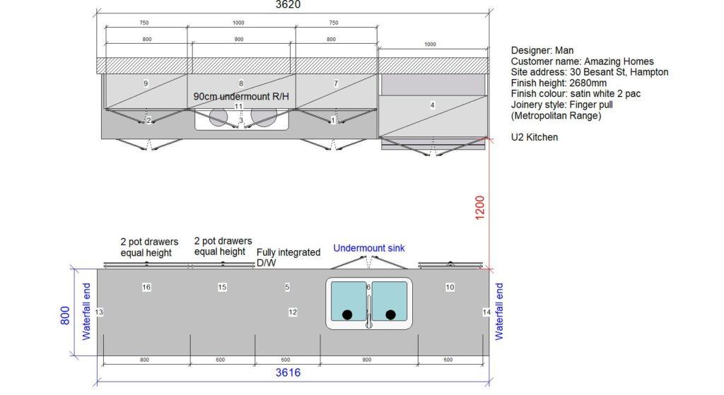 U2 Kitchen Floor Plan Stone